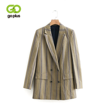 GOPLUS Office Lady Plaid Blazer Women 2019 Spring Autumn Suit Blazers Mujer Formal Jackets Women Elegant Outwear Blazer Feminino blazer feminino stripe slim fit women long sleeve spring autumn office lady blazer mujer 2019 women outwear hjj801930
