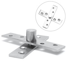 Rotating Hinge 360 Degree Stainless Steel Door Pivot Up Down Shaft 75/95/100mm Furniture Hinges