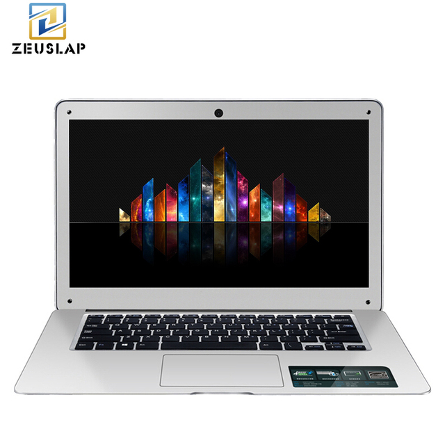 ZEUSLAP-A8 14inch 8GB RAM+500GB HDD Windows 10 Scheme Intel Quad Core Branch Home Entertainment Laptop Notebook Computer.