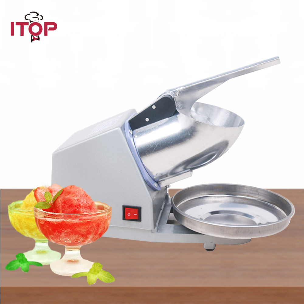 ITOP Ice Chopper Electric Ice Crusher CE Shaver chopper JUICE Snow Cone Maker shatter CN in stock stainless steel electric ice shavers crusher chopper ice slush maker icecream snow cone ice block breaking machine eu us plug