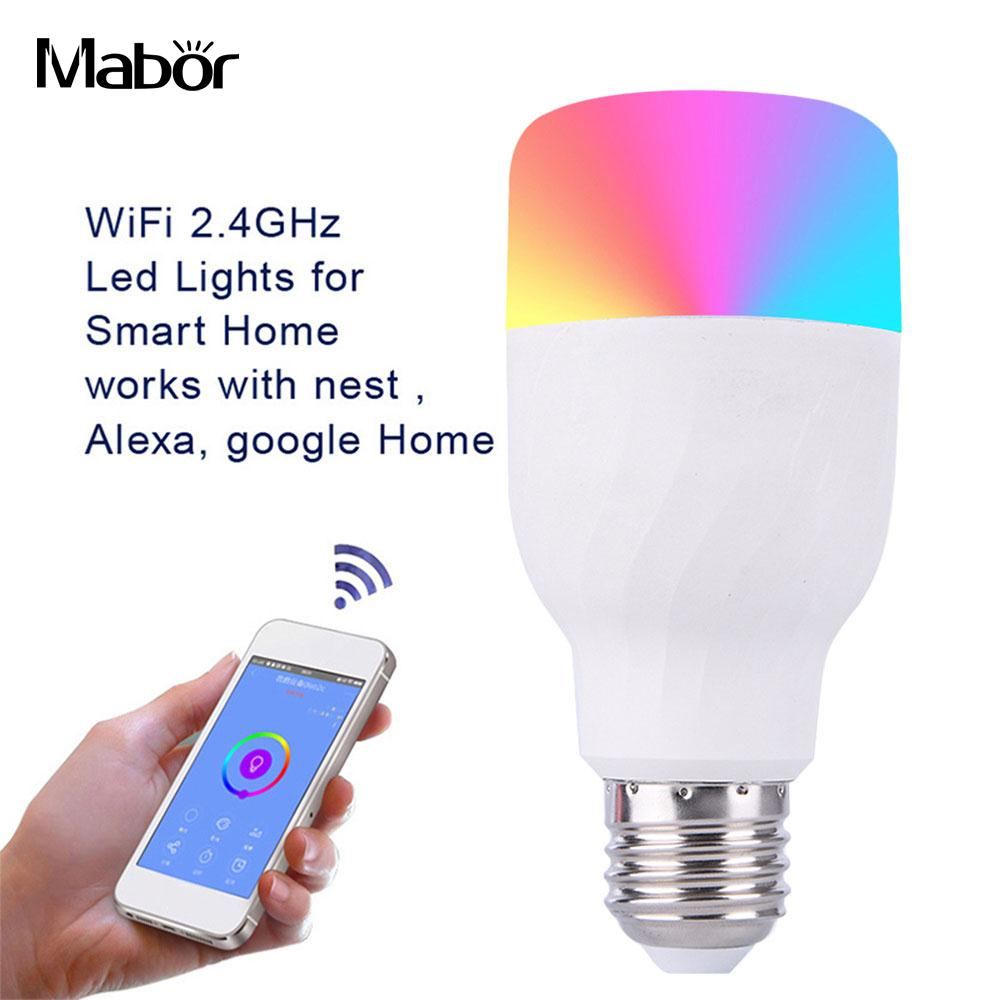 Durable Smart Lamp Light LED Bulb Home Decoration Bar WiFi 7W Super Bright RGBW Phone Control