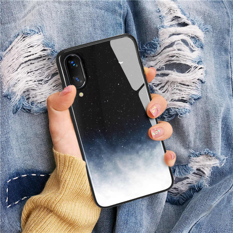 Case For iPhone XS Max XR X 8 11 Pro Max Case Silicon Slim Tempered Glass Starry sky For iPhone 8 7 Plus 6 6s 8Plus 11Cover Capa