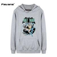 Flevans neue super hero hoodies mann batman druck hoody herbst winter hip hop fashion tops pullover sweatshirts mit hut tasche