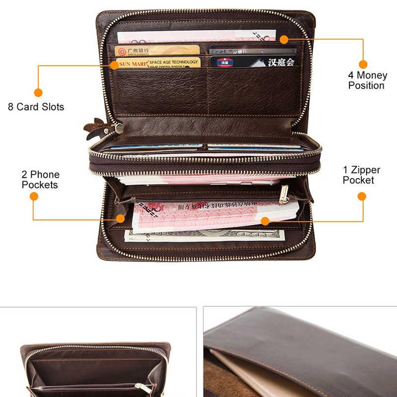 26226bb85f4c ... Westal клатч мужской мужские кошельки портмоне мужское кошелек мужской  из натуральной кожи длинный кошелек для документов