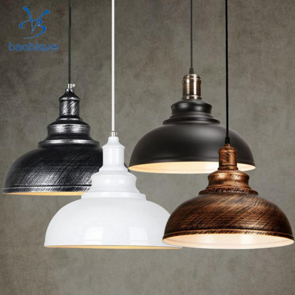 Baoblaze 2x Retro Industrial Chandelier Shade Cover Ceiling Light Cover Pendant Lampshade