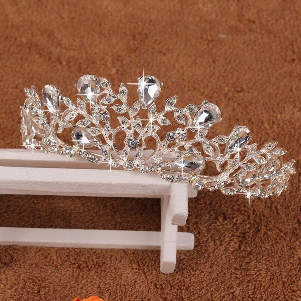 Novo Cristal de Noiva Pente de Strass Tiaras Coroa Tiara Casamento Prom Pageant Jóias # Y51 #