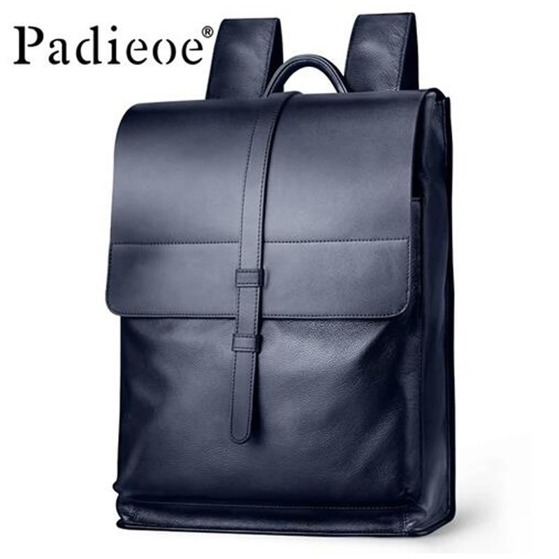 Luxury Designer Genuine Cow Leather Men Backpack High Quality Real Leathe Backpack Large Capacity men School