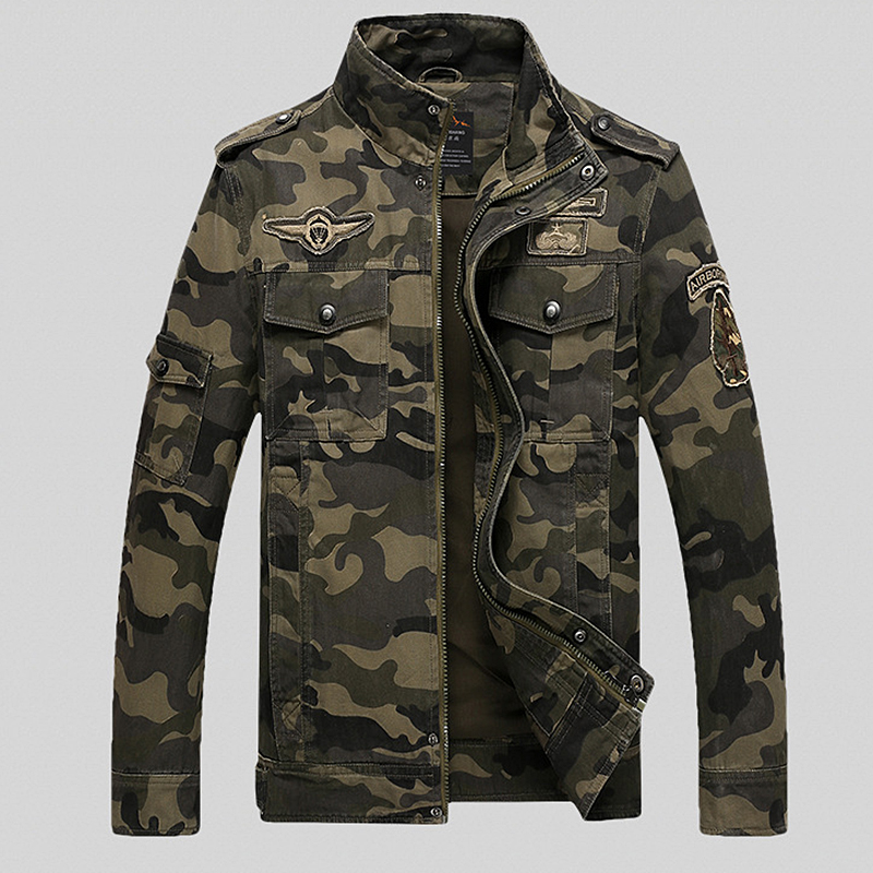 2019 spring Autumn Camouflage jackets men streetwear casual coats loose parka men Military fashion jackets men casaco masculino