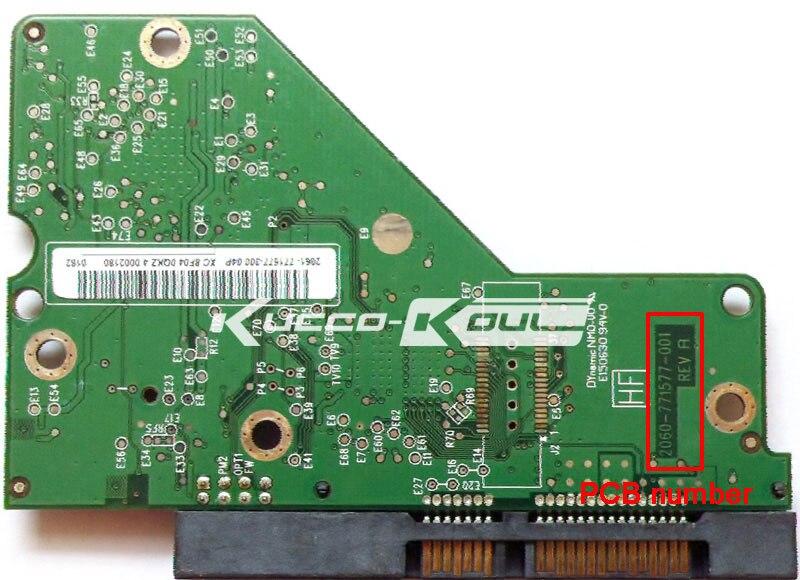 HDD PCB Logic Board 2060-771577-001 REV A For WD 3.5 SATA Hard Drive Repair Data Recovery