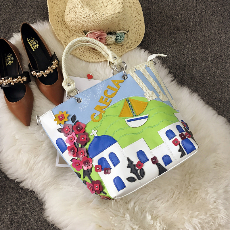Grec Dessinée Femme Sj À Bande Main Cuir 3d Braccialini Egée De En Femmes Sacs Bandoulière Style Totes Sac Artisanat Messenger Mer Bag Art RwRxnFqrU
