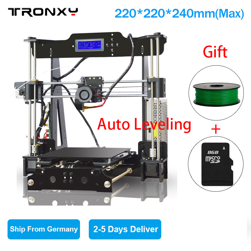 Tronxy 3D Printer Heated Bed Auto-leveling DIY 3D Printer Kit High  Precision 8G SD Card& 1 Roll Filaments as Gifts Free Shipping