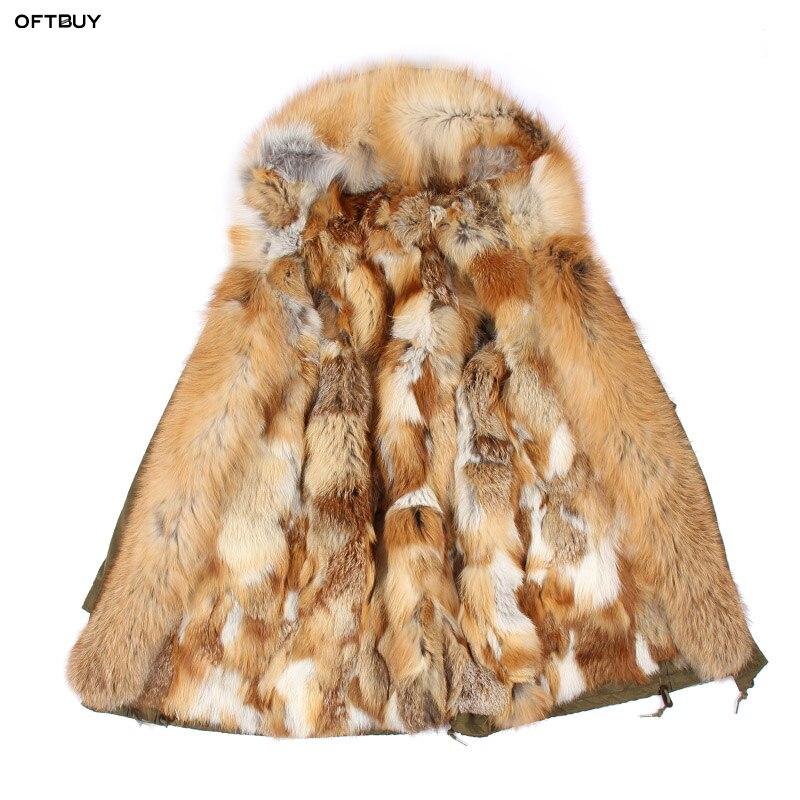 Vert 2 Manteau 4 Naturel Parka Laveur Grand Fourrure 3 Col D'hiver Raton Capot 2019 5 Veste Renard En Long Doublure Chaud Armée Réel Femmes Longue 6 1 De Bnwqqx5S8H