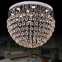 Dia80 * H55cm Groothandel Moderne Ball Bol Ontwerp Grote Kristallen Kroonluchter voor Woonkamer Glans Home Verlichting