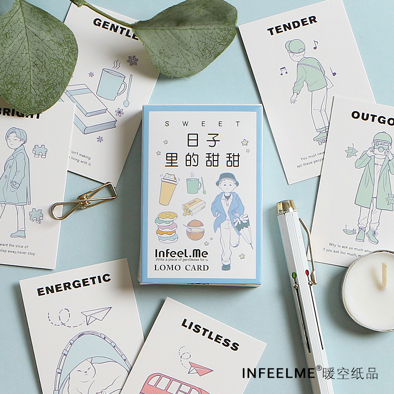 28 Sheets/Set Sweet Days Life Lomo Card Mini Postcard Creative Birthday Greeting Card Message Card