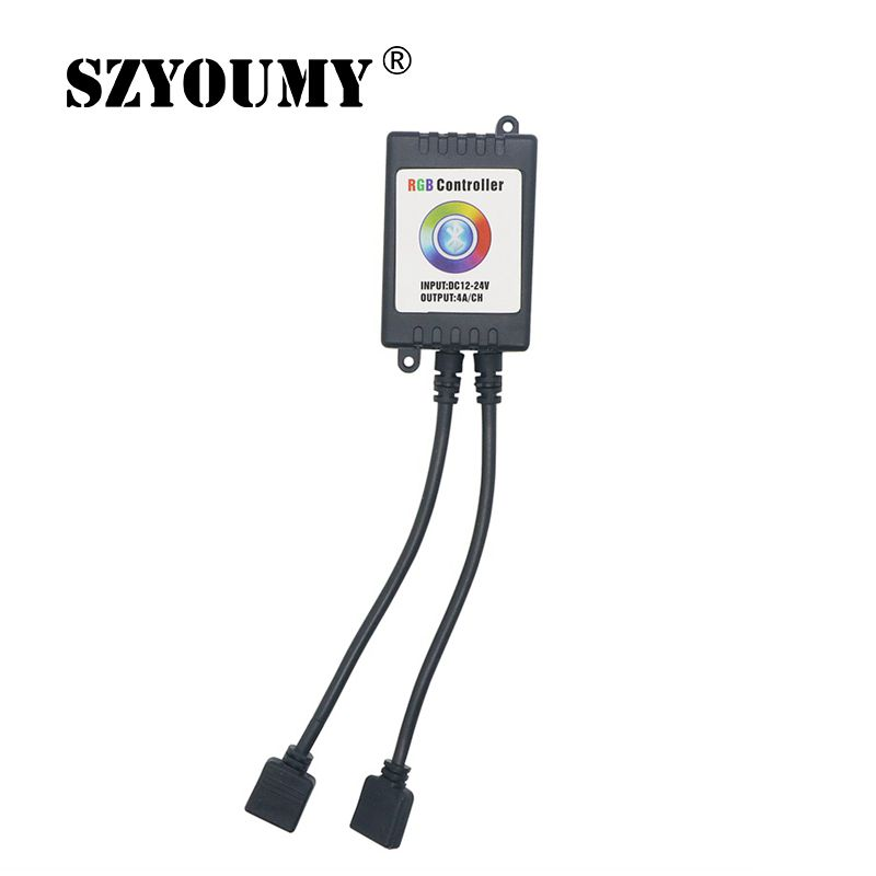 SZYOUMY Two Ports Wireless Bluetooth Music Smartphone App Remote RGB Controller For 5050 RGB LED Strip For IOS For Android image