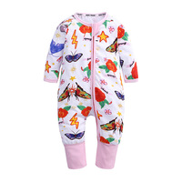 Ins Fashion Autumn Winter Baby Rompers for Girls Cotton Rose Butterfly Print Fall Baby Onesie Clothes Toddler Outfit Romper