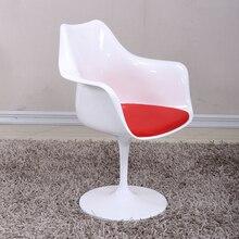 Современные Дизайн классический Tulip кресло с Алюминий База поворотный Tulip Лофт, поворотный отеля исследование встречи макияж tulip стул