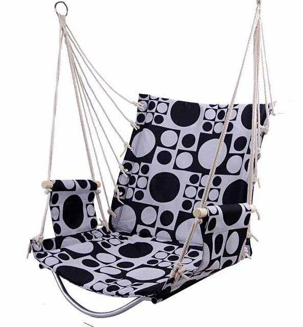 Outdoor Patio Swings Hanging Adult Garden Swing Chair Cotton Sponge Cushion  Hanging Soft Balcony Chair