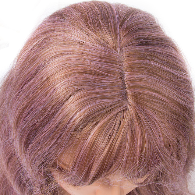 70CM Brown Pink Cosplay Wig