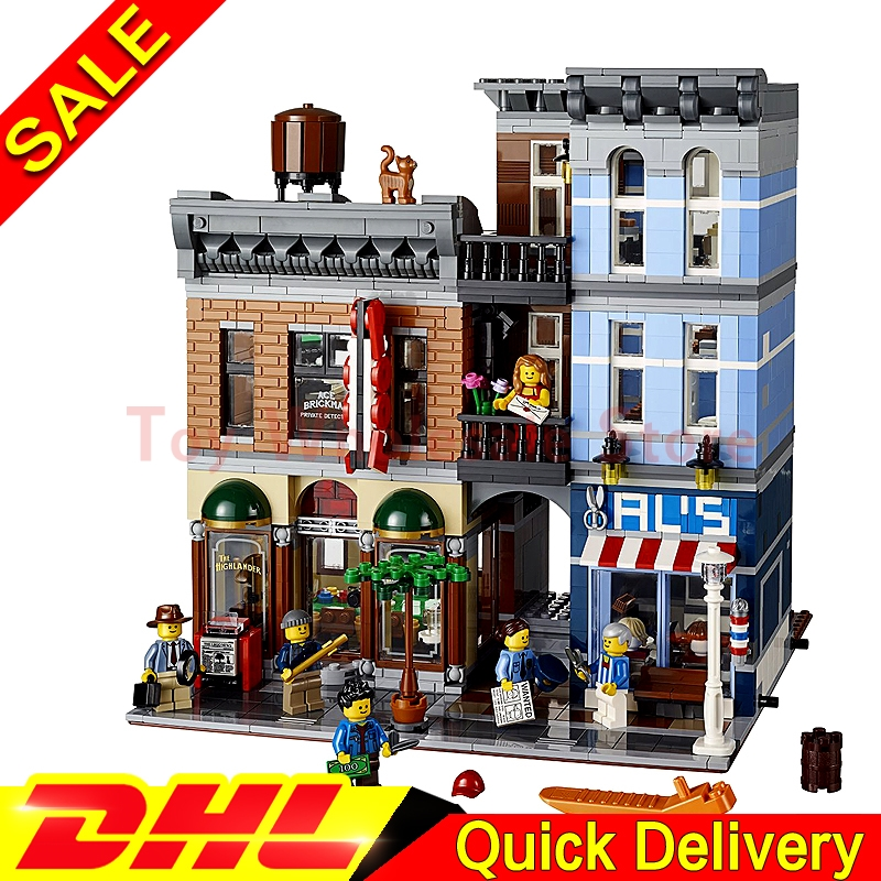 LEPIN 15011 MOC City Street Detective's Office House Model Building Blocks Set Bricks lepins toys Clone 10246 s6c2742 81 new tab cof module