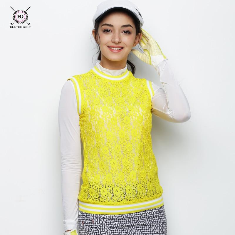 2018 BLK TEE women golf waistshirt sleeveless hollowed vest summer cool breathable sports shirt golf training apparel lady top