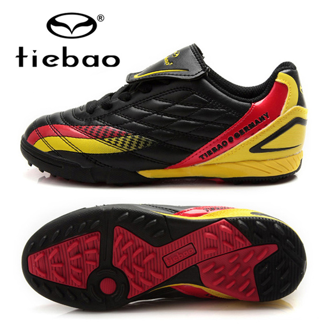 TIEBAO Professional Futebol Boots Children Kids Teenagers Soccer Shoes Botines De Futbol Football Shoes TF Turf Soles Sneakers