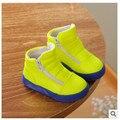 Nuevos 2016 botas de nieve botas zapatos de bebé de los niños zapatos de invierno zapatos para niñas niños Envío Gratis cremallera Lateral Impermeable Cozy 1-300