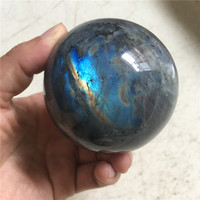 1pcs rare 100% natural stones and minerals labradorite sphere healing crystals ball heavy flash for home and office decoration