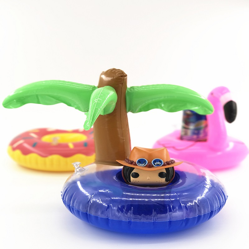 Mini Cute Funny Toys Red Flamingo Floating Inflatable Drink Holder Swimming Pool Bathing Beach Party Kids Bath Toy #E