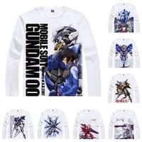 Coolprint Anime Shirt Mobile Suit Gundam Unicorn T Shirts Long Sleeve Giant Robots First Gundam Cosplay