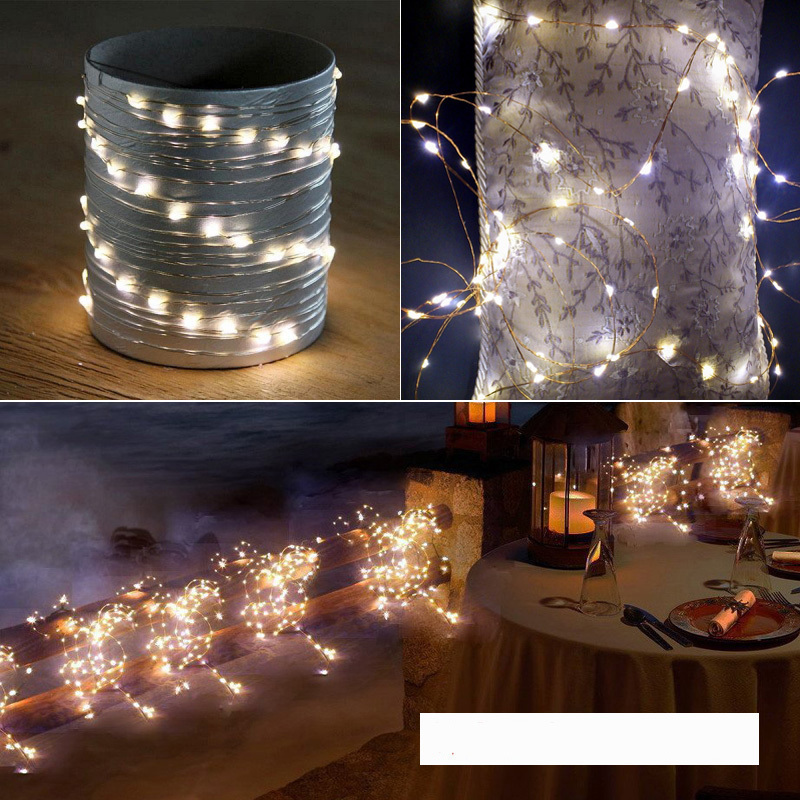 4m Christmas Lights Outdoor Guirlande Lumineuse LED String Fairy Garland Lights Garden Decorations Battery Operated Fairy Lights