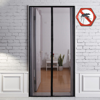 Cortinas de 3 tamanhos antimosquitos  para o verão  criptografia  ímãs da porta  cortina