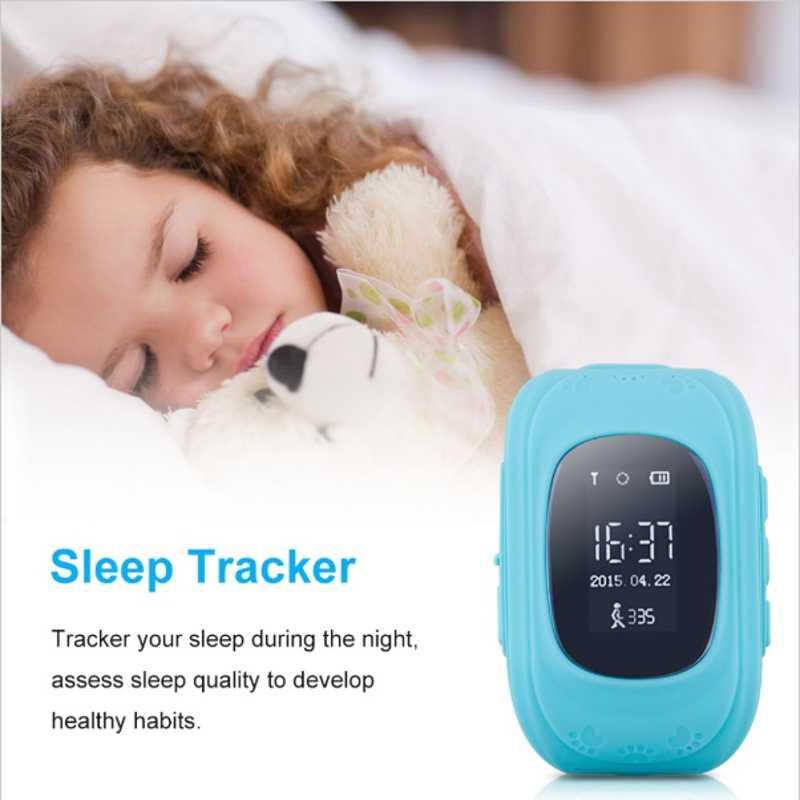 Q50 Crianças GPS Relógio Rastreador de Telefone Inteligente de Monitoramento de Segurança Portátil Relógio de Pulso cinta Criança Inglês Versão 2G do SIM