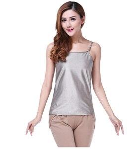 Серебряное волокно электромагнитное излучение защитный камзол одежда, Холтер camis, женская летняя крутая одежда. EMF shelding sun-top