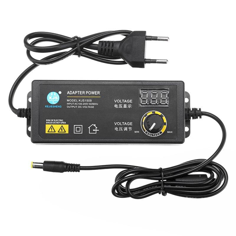 EU/Us-stecker 3-24V 2.5A Power Adapter Einstellbare Spannung Adapter Led-anzeige Schalt Netzteil
