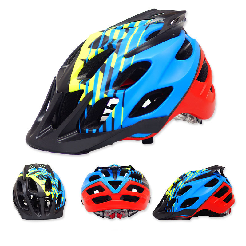 Cascos de bicicleta MTB PC + EPS hombres mujeres Bike Helmet Mountain Road bicicleta ciclismo integral-moldeado cascos Unisex