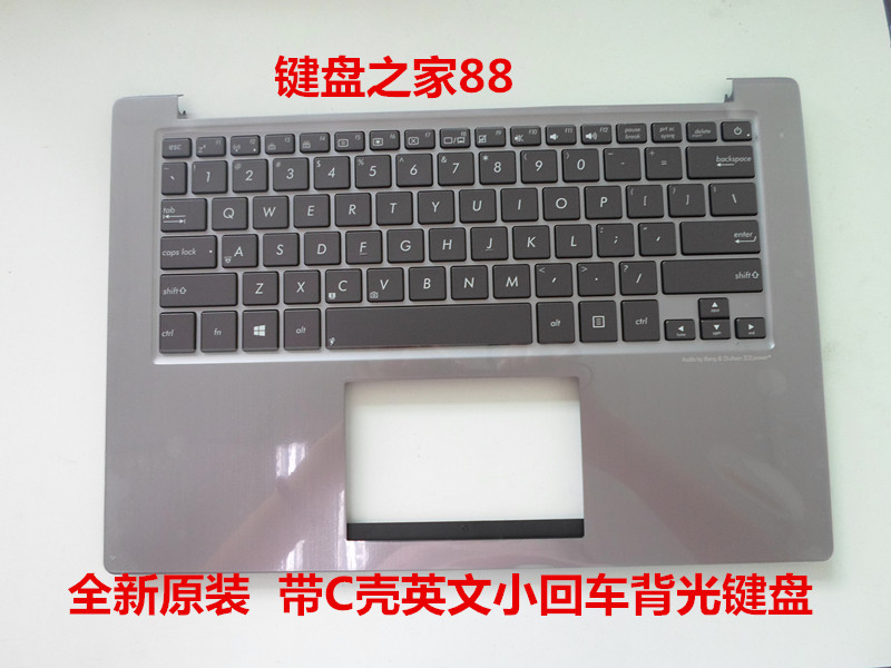 New US keyboard for FOR ASUS U38 U38D U38DT  English Laptop keyboard Backlight palmrest cover new for acer v5 551 v5 551g english us laptop keyboard notebook palmrest touchpad cover