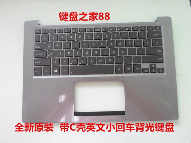 Nuevo teclado ee.uu. para asus u38 u38d u38dt inglés cubierta palmrest teclado del ordenador portátil de luz de fondo