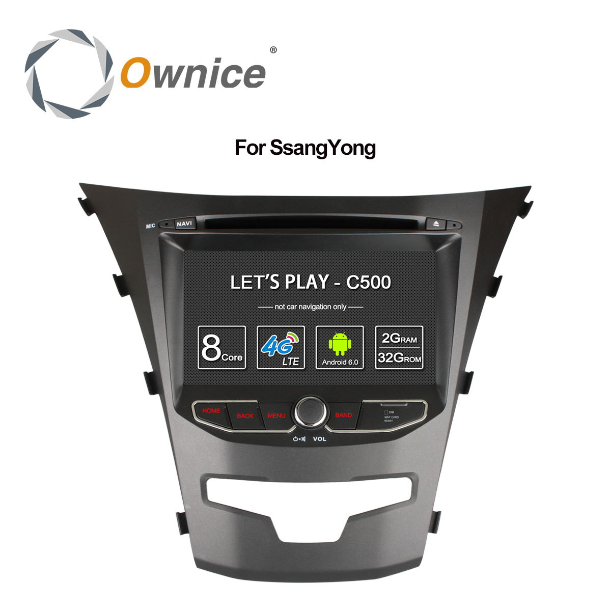 Ownice C500 Octa 8 Core android 6,0 для ssangyong actyon 2014 korando 4 ядра поддержка 4G SIM сети LTE DAB + 2 ГБ Оперативная память 32 ГБ Встроенная память