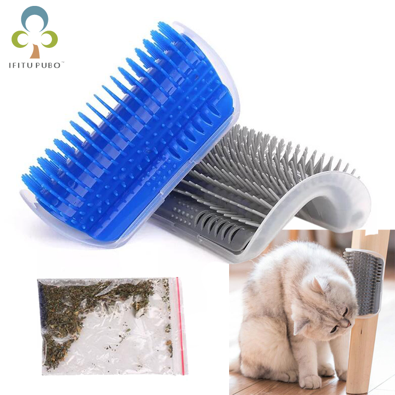 Pet Products Cat Massager Wipes Cute Fiddle Artifact Blue Furniture Scratchers Cats Furniture Play Toy For Cats Brush Comb Gyh