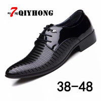 Hot Sale Size 38 48 Formal Clothes Casual Shoes Men Spring Autumn Waterproof Solid Lace Up