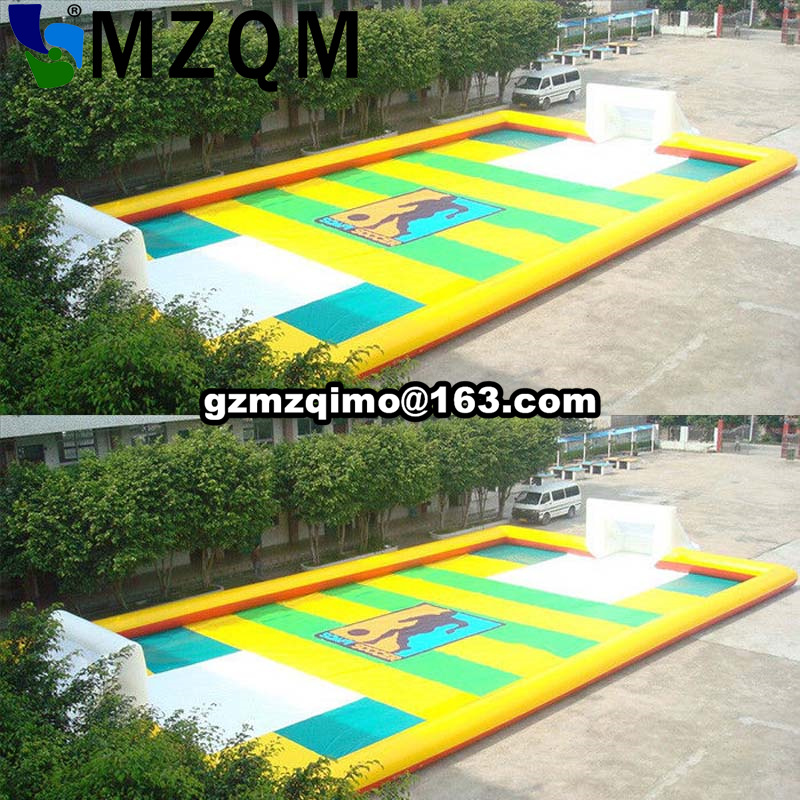 Airtight 0.6 mm PVC Inflatable Soccer Field Portable Inflatable Football Court For Fun Soccer Games