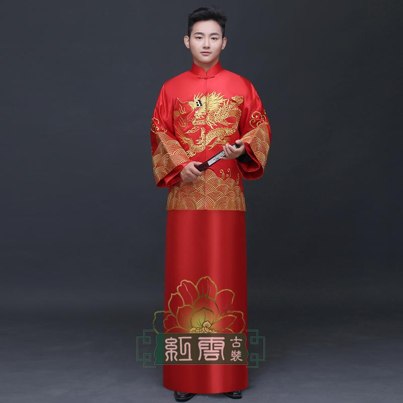 New arrival groom male show clothes chinese style wedding dress mens clothing tunic suit tang costume