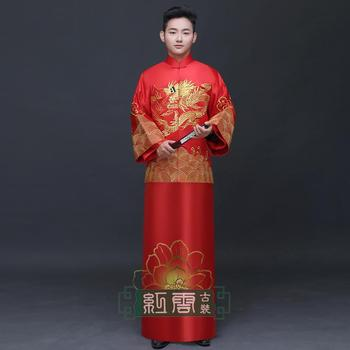 New arrival groom male show clothes chinese style wedding dress men's clothing chinese tunic suit tang suit costume