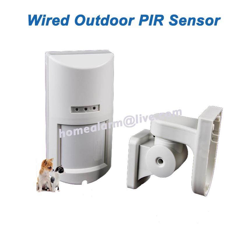 Kabelové venkovní PIR IP65 odolné vůči povětrnostním vlivům + Mikrovlnný alarm Motion Sensor, Zvířata povolena, Doprava zdarma