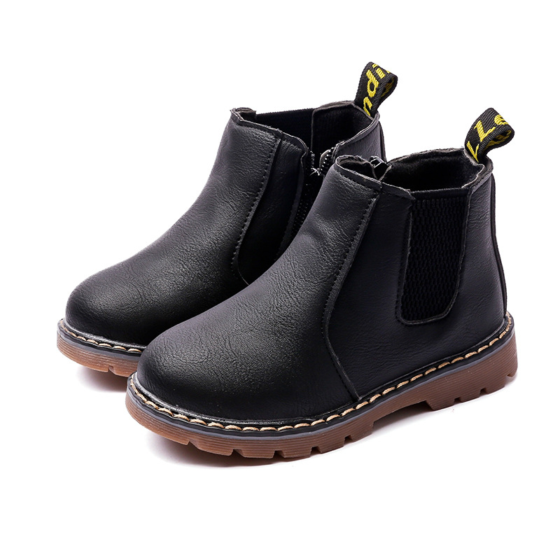 Retro Children's Riding Boots 2019 Spring Autumn Ankle Boots Fashion Kids Girls Casual Shoes Top Quality Boys Baby Leather Boots