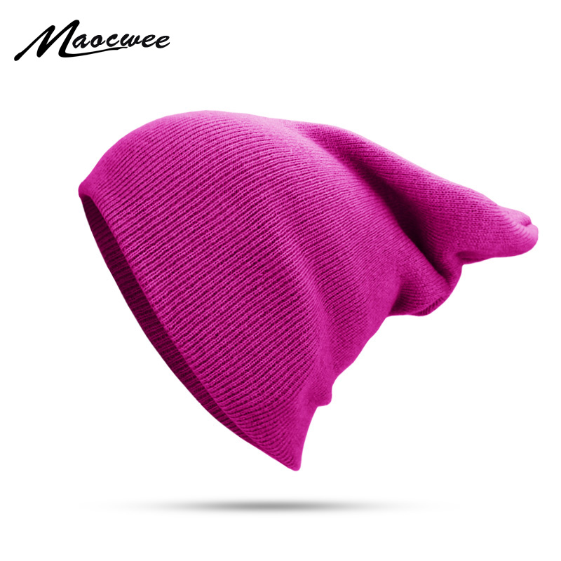 Winter Hat For Men Women   Skullies     Beanies   Warm Cap Unisex Elasticity Knit   Beanie   Hats Solid Color Knitting Girl Rose Green Hats
