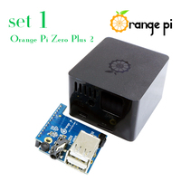 Orange Pi Zero Plus 2 H3/H5 Set 1: Black Case +Expansion Board, beyond Raspberry Pi
