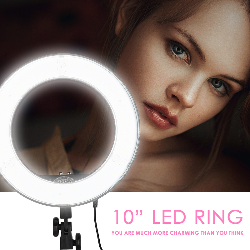 Meking Camera Photo/Studio/Phone/Video 180 LED Ring Light 5500K Photography Dimmable Ring Lamp Studio Light Selfie Ring Light 1pc 150w 220v 5500k e27 photo studio bulb video light photography daylight lamp for digital camera photography