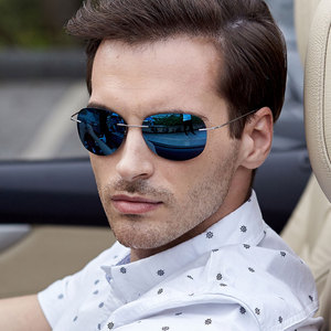 Image 2 - NALOAIN Sunglasses Polarized Mirrored UV400 Lens Titanium Frame Rimless Lightweight Sun Glasses For Men Women Driving Fishing